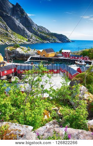 Nusfjord, Norway - Juli 21, 2011 - Fishing Village In Nusfjord, Lofoten, Norway