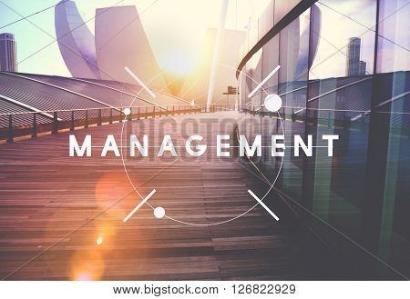 Management Organization Managing Strategy Process Concept