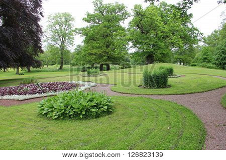 Beautiful landscape of Naas slot park Sweden