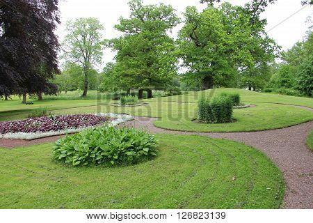 Beautiful landscape of Naas slot park Sweden
