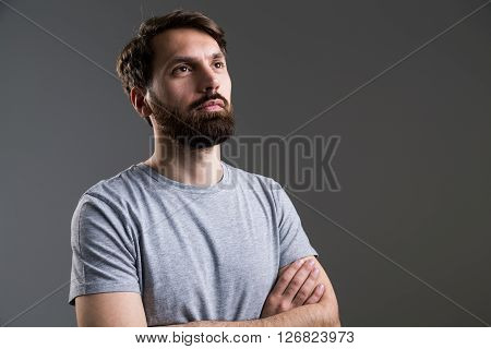 Bearded Male Crossed Arms