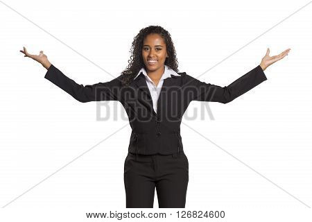 Businesswoman With Open Arms