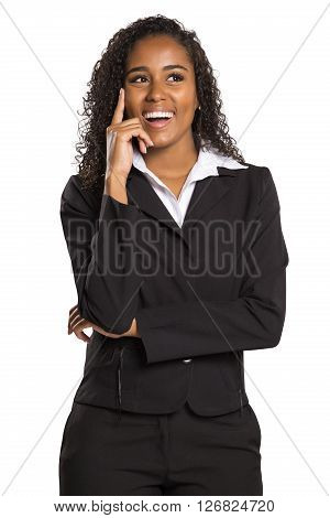 Portrait Of A Young Business Woman Thinking