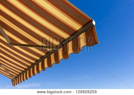 Sun Shade  With Blue Sky In The Background