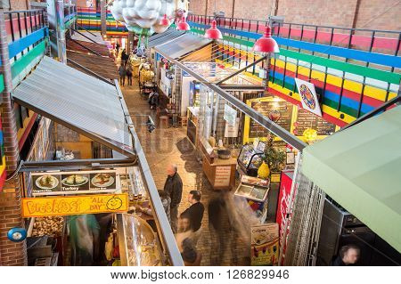 Ottawa Canada - 15th April 2016: inside Byward Covered Market halls