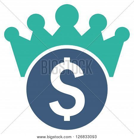 Financial Power vector icon. Style is bicolor flat symbol, cobalt and cyan colors, white background.