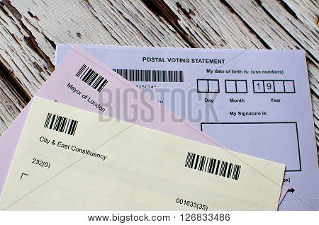 Postal Voting London Uk