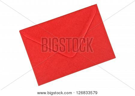 Red envelope isolated on a white background