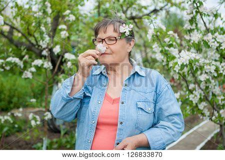 Woman  In Her Garden