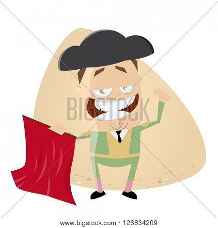spanish matador cartoon clipart