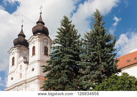 Detail of the Benedictine Abbey in Tihany village Hungary
