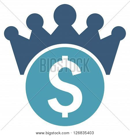 Financial Power vector icon. Style is bicolor flat symbol, cyan and blue colors, white background.