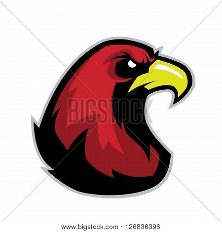 Clipart picture of a eagle head cartoon mascot character