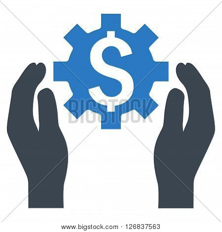 Financial Insurance Options vector icon. Style is bicolor flat symbol, smooth blue colors, white background.