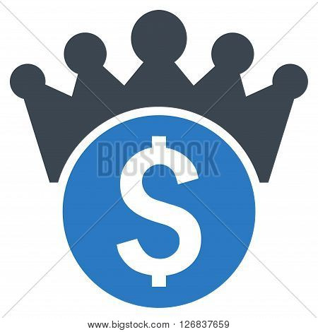 Financial Power vector icon. Style is bicolor flat symbol, smooth blue colors, white background.