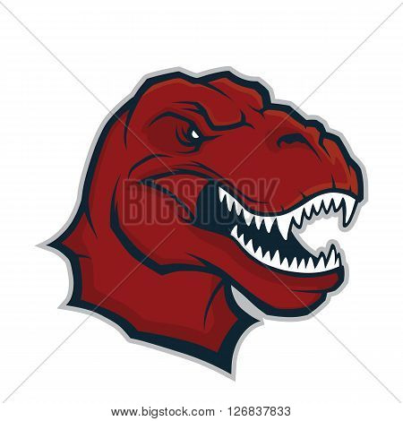 Clipart picture of a raptor head cartoon mascot character