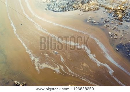 Industrial Oil Spill On Water