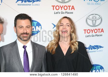 LAS VEGAS - APR 21:  Jimmy Kimmel, Molly McNearney at the Keep It Clean Comedy Benefit For Waterkeeper at the Avalon Hollywood on April 21, 2016 in Los Angeles, CA
