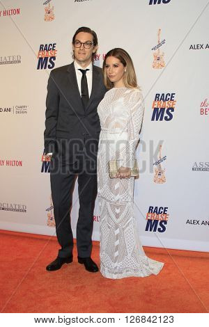 LAS VEGAS - APR 15:  Christopher French, Ashley Tisdale at the  23rd Annual Race To Erase MS Gala at the Beverly Hilton Hotel on April 15, 2016 in Beverly Hills, CA
