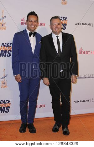 LAS VEGAS - APR 15:  Salvador Camarena, Ross Matthews at the  23rd Annual Race To Erase MS Gala at the Beverly Hilton Hotel on April 15, 2016 in Beverly Hills, CA