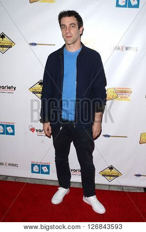 LAS VEGAS - APR 17:  B. J. Novak at the Milk + Bookies Story Time Celebration at the California Market Center on April 17, 2016 in Los Angeles, CA