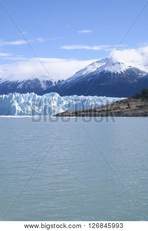 View of the Perito Moreno glacier Patagonia Argentina.