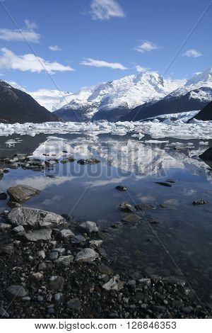 Punta Bandera, Lago Argentino, Calafate, Patagonia, Argentina.