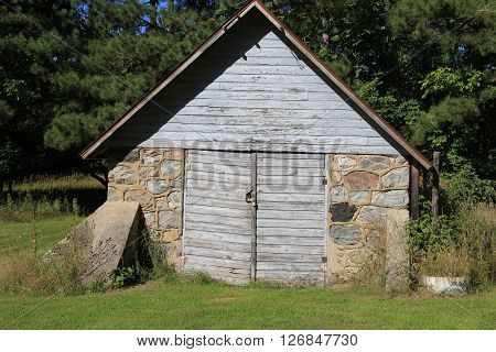 A shed in Port Oneida Historic Farm District, Sleeping Bear Dunes National Lakeshore, Michigan.