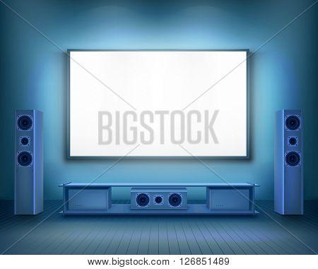Home cinema.  Vector illustration.