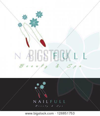Beautiful vector LOGO / SYMBOL design for Nail Design store or profession