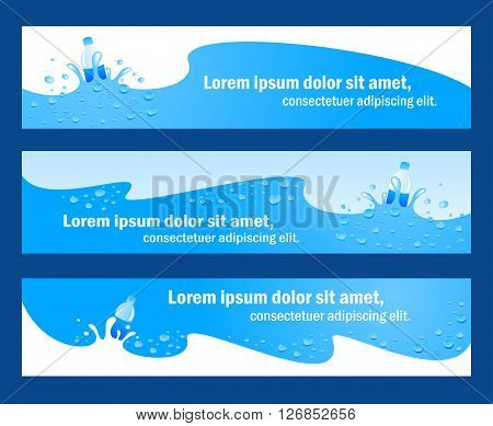 baner header water aqua blue element, rgb no transparent
