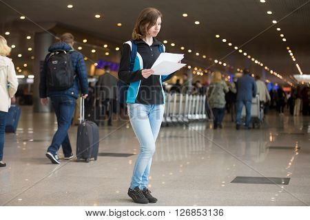 Girl With E-tickets