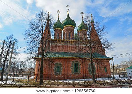 Church of St. Nicholas in the Tchaikovsky Street in Yaroslavl, Russia