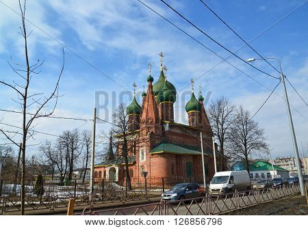 Russia, Yaroslavl-March 29.2016.  Church of St. Nicholas in the Tchaikovsky Street