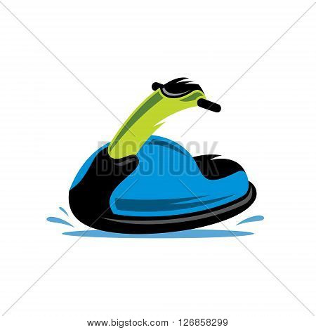 Detailed jet scooter Isolated on a White Background