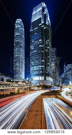 Night in Hong Kong, the city never stop.