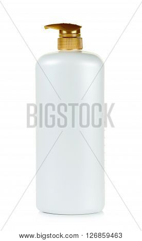 Pump Bottle Isolated On The White Background
