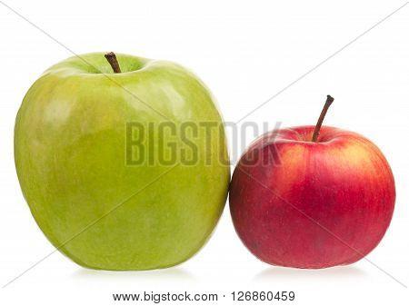 Fresh ripe apples isolated on white background