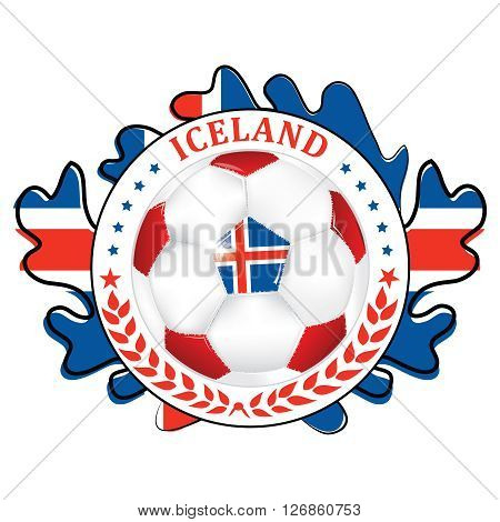 printable iceland football team label iceland football national team sign containing a soccer ball