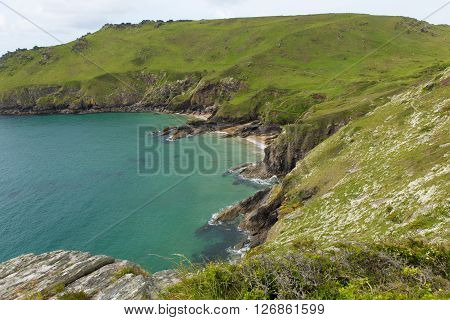 Starehole bay Salcombe Devon UK a short coast walk from this coastal town