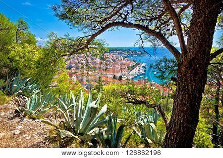 Town of Hvar from above Dalmatia Croatia