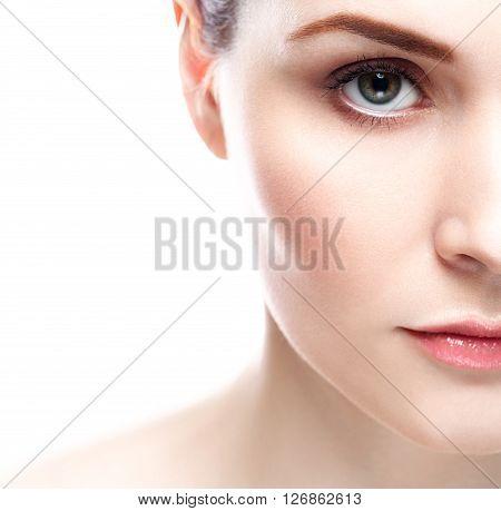 Eye Lips Nose Woman Skin Beauty Portrait