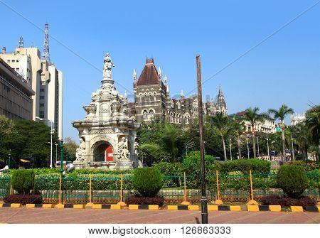 Beautiful Flora fountain in the center of Mumbai city