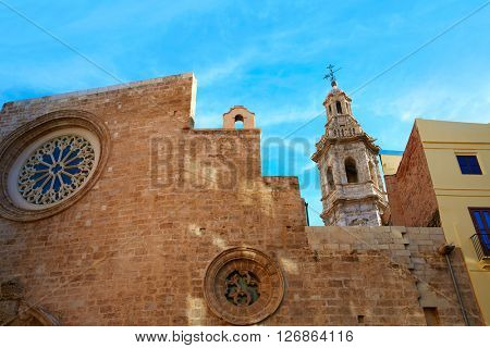 Valencia Santa Catalina church downtown in Spain