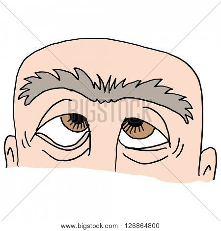 An image of Man with unibrow.