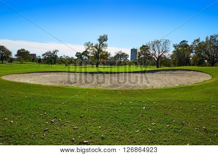Houston golf course in Hermann park conservancy at Texas