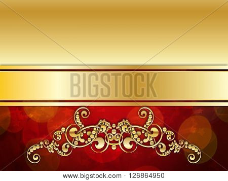 Red And Gold Luxury Background