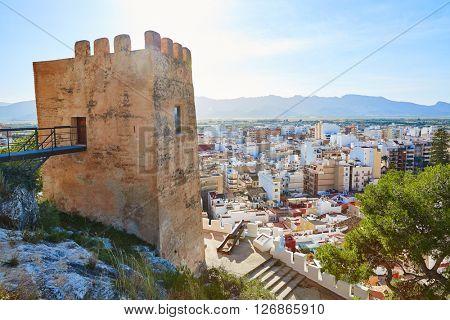 Cullera Torre de la Reina Mora tower in Valencia of Spain