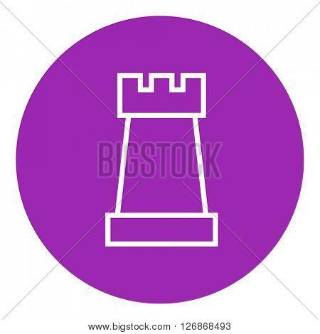 Chess line icon.