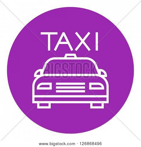 Taxi line icon.